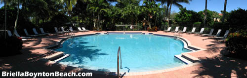 What a pleasant place to spend a sunny Florida afternoon - lounging in the shade beside Briella's pool.